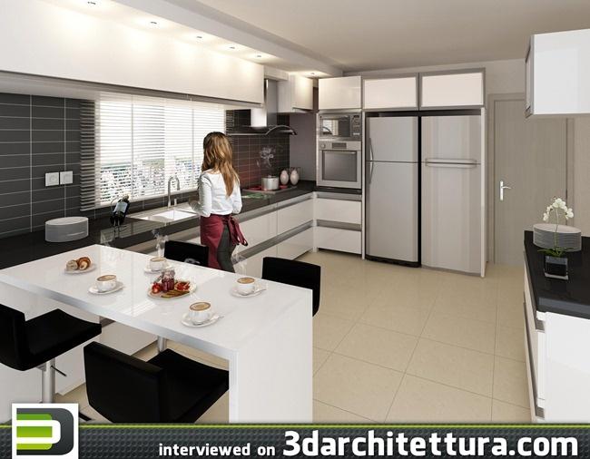 Gustavo Tassoniero, render, 3d,  interior, 3darchitettura    www.3darchitettura.com/gustavo-tassoniero