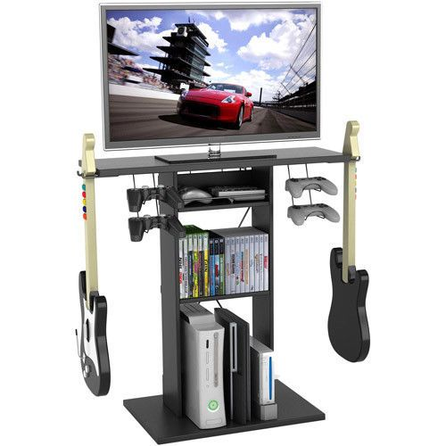 Video Game TV Stand Storage Rack Console Entairtenment Center Room Organizer PS4 #Atlantic #Modern