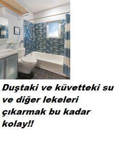 Duş küvet temizliği için bunu kullanın.Banyoda duvardaki su lekeleri duş ve küvetteki lekeler için süper yöntem