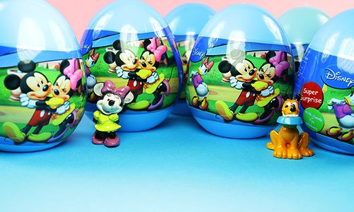 """Hello guys. Today you """"mickey mouse surprise egg """" We will show the toy. They live from each other in a fun and cute cartoon characters of this surprise."""