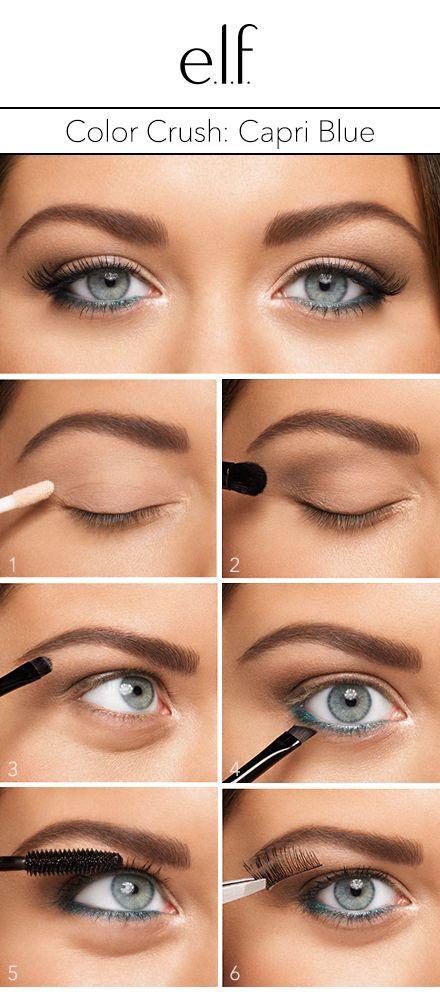 Blog   How To: Color Crush - Capri Blue!   e.l.f. Cosmetics