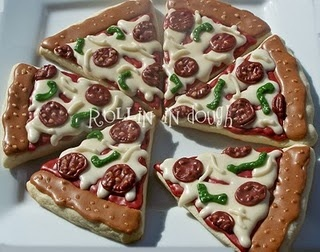 pinterest piza cookie fun   pizza cookies repinned from creative cookies and sweets by carey ...