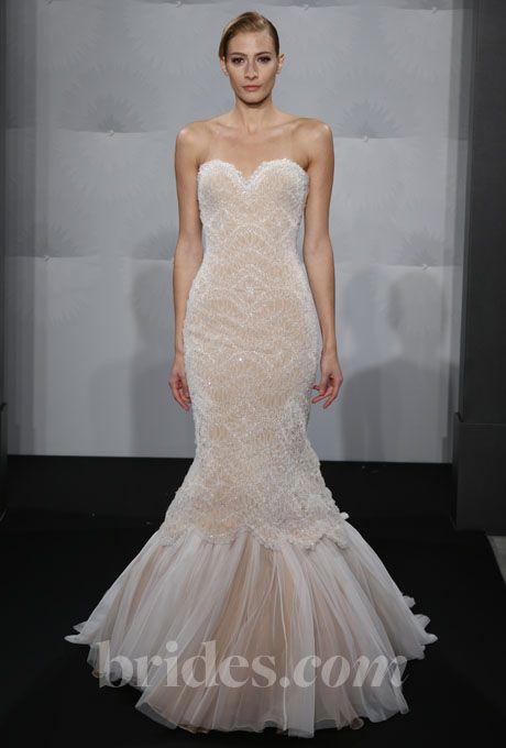 Trumpet Wedding Dresses Kleinfeld : Dahlia blush wedding gowns trumpet dresses dress