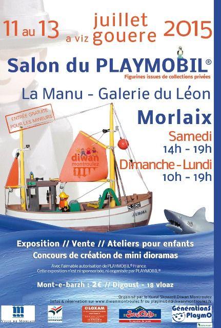 Salon du playmobil morlaix agenda events pinterest for Salon du playmobile le mans