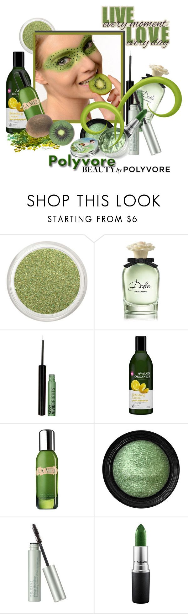 """Kiwi Beauty for June 2017"" by ragnh-mjos ❤ liked on Polyvore featuring beauty, Dolce&Gabbana, NYX, La Mer, Vincent Longo, Origins and MAC Cosmetics"