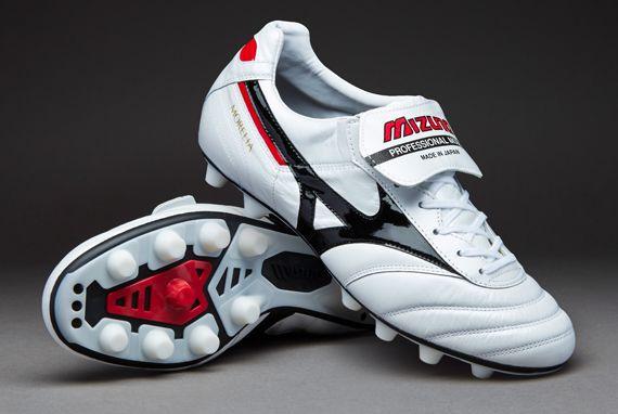 Mizuno Football Boots - Mizuno Morelia II FG - Firm Ground - Soccer Cleats - White/Black - P1GA1501-09
