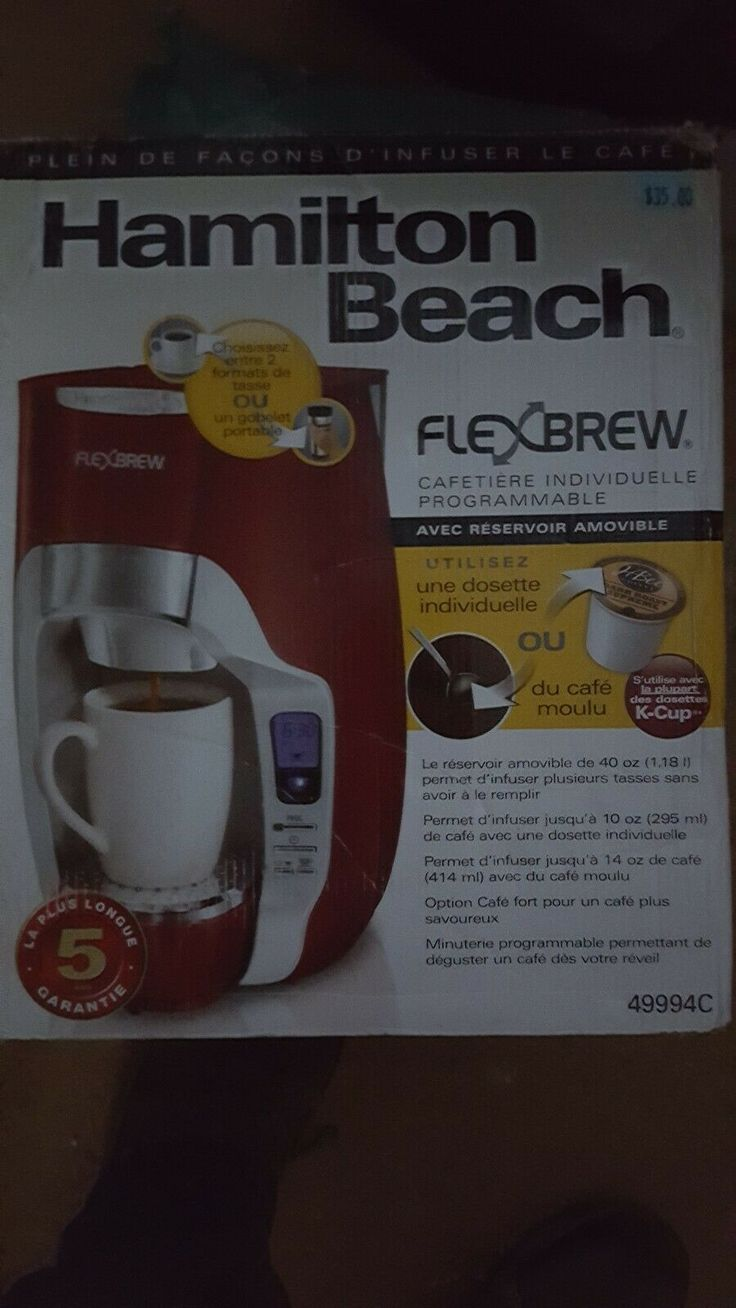 Hamilton Beach FlexBrew 49979 Coffee Maker RED Coffee