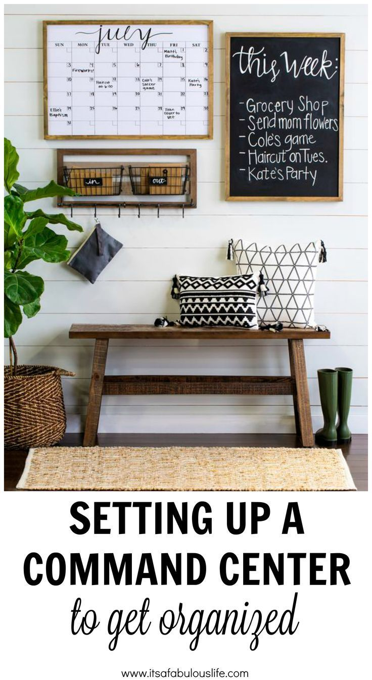 Setting up a command center to get organized