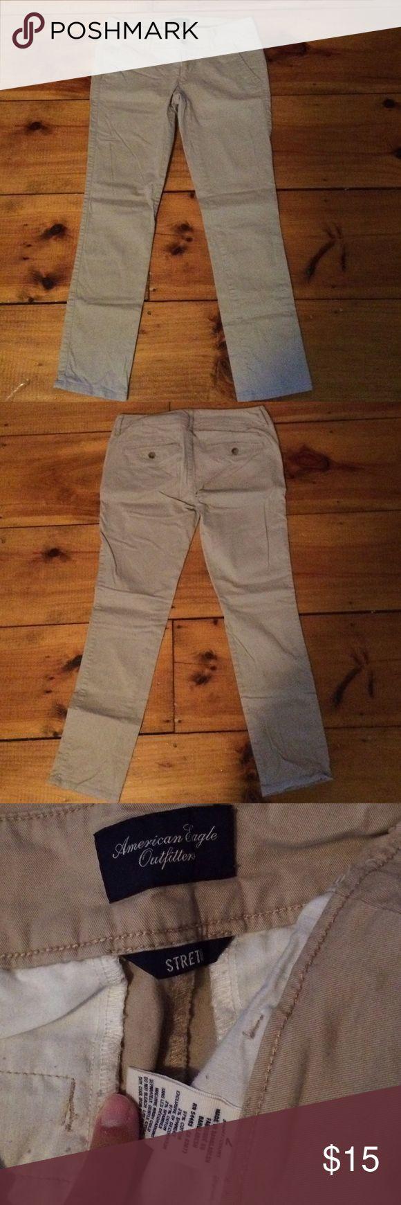 Khaki Trousers American Eagle khaki skinny trousers. Lightly worn. American Eagle Outfitters Pants Trousers