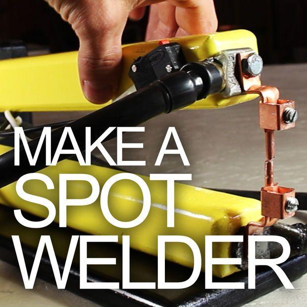 Make your own electric spot welder for a fraction of the commercial item!!!  ¡Haga su propio soldador eléctrico del punto para una fracción del artículo comercial !!!