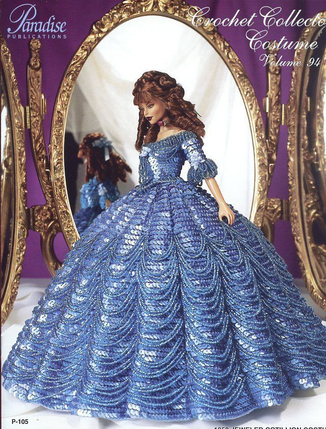 1858 Jeweled Cotillion Costume for Barbie Paradise #94 Crochet PATTERN NEW RARE #ParadisePublications #DollOutfit