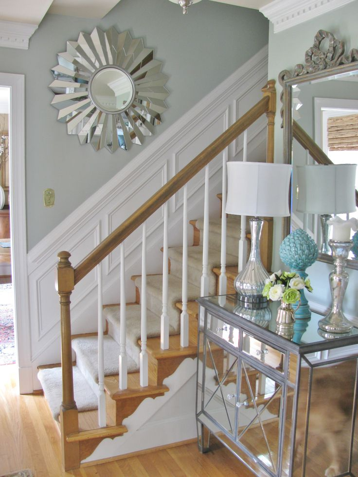 Sherwin Williams Comfort Gray- Looks more like Rain  entryway color then dining room a shade or two darker