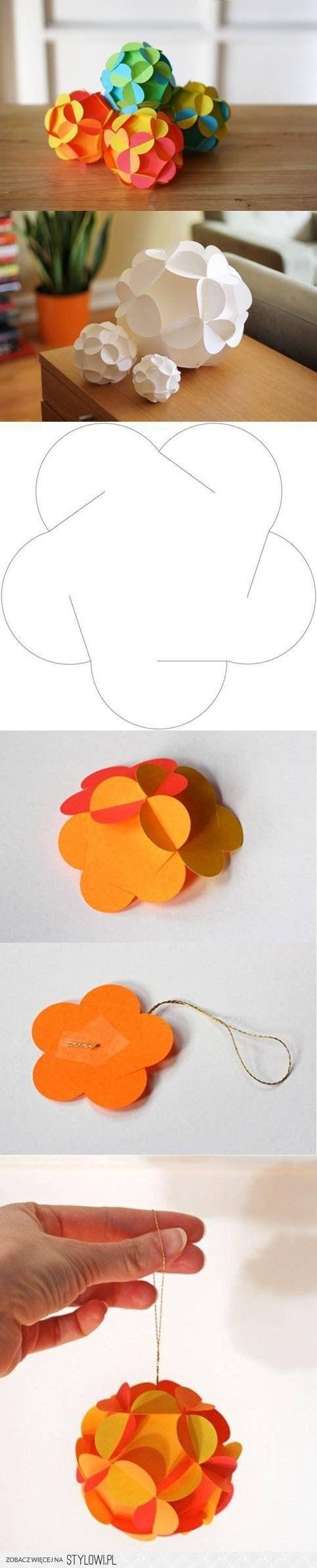 Los proyectos de bricolaje de papel de las bolas de Navidad DIY | UsefulDIY.com en Stylowi.pl