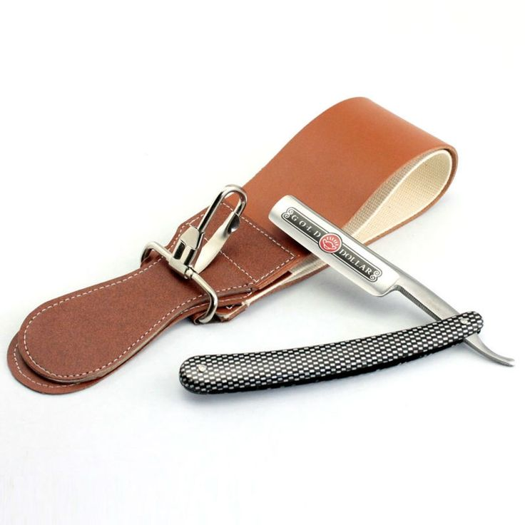 11.89$  Watch now - Gold Dollar 208 Straight Razor Cut Throat Shaving Knife+ Leather Belt Sharpening Razor Strop Sharpener  #buychinaproducts
