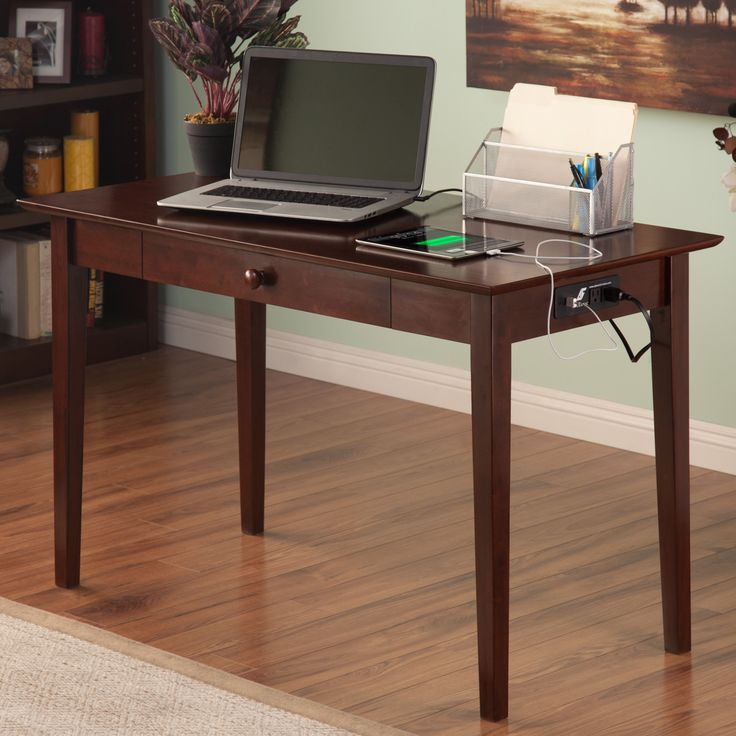 Belmont Writing Desk with Drawer and Charging Station