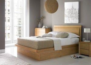 Arran Oak Ottoman Storage Bed - Oak Beds - Wooden Beds - Beds
