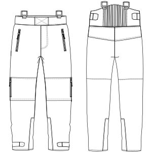 Mountain Trouser patterns. Pantalones de montaña patrones de ropa. www.Patronesymoldes.com