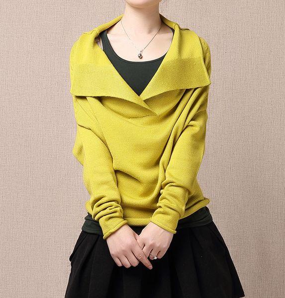 Chemise de chandail jaune chiffre d'affaires de UniqueDress sur DaWanda.com