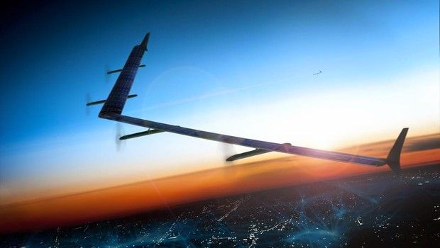 O Facebook anunciou nesta quinta-feira (26/32) que finalizou com sucesso seu primeiro teste de um avião que levará banda larga para quem está em terra. Confira em bit.ly/aviaofacebook