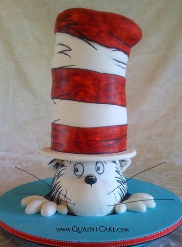 ❥ Cat In the Hat Cake (too cute)
