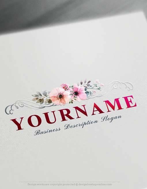 Online Logo Creator Free Elegant #floral  #logo  Maker