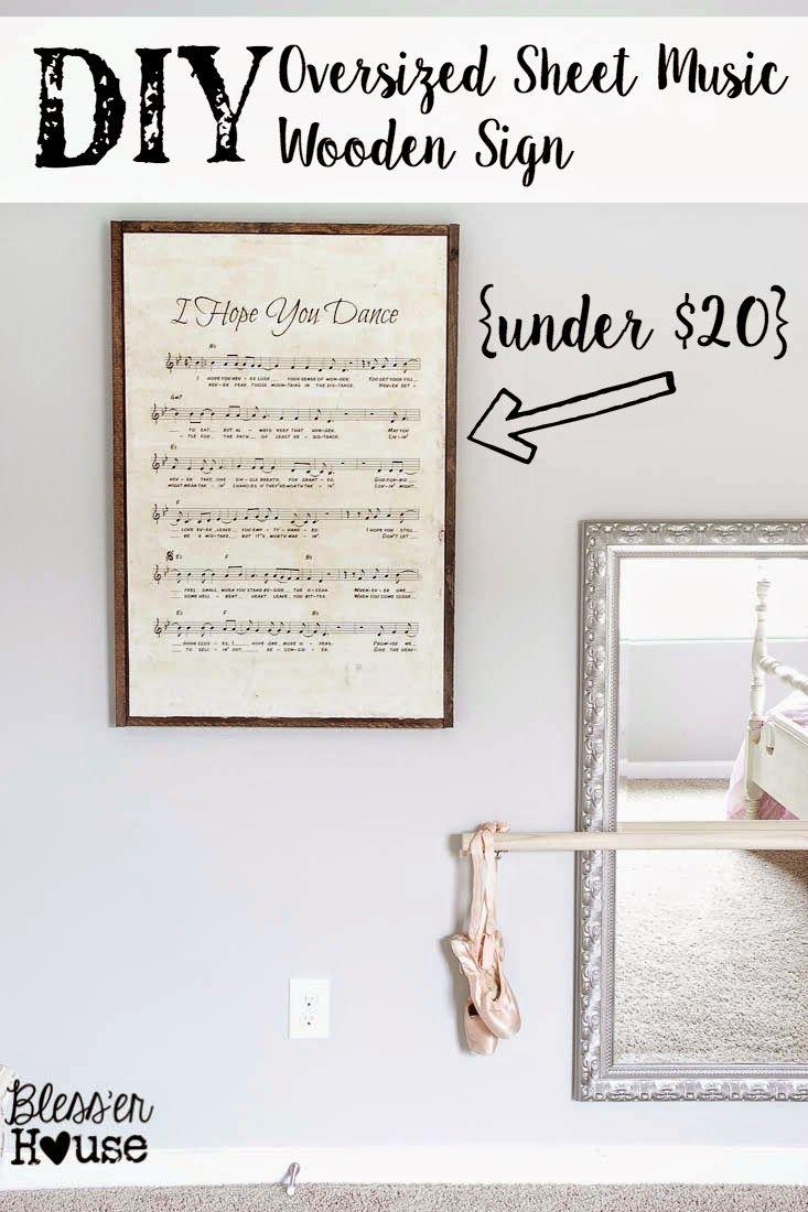 Oversized Sheet Music Art  |  Blesser House