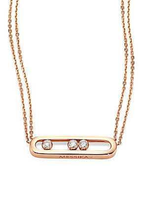 Messika Move Diamond & 18K Rose Gold Necklace - Rose Gold