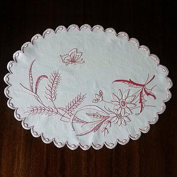 Espiguillas de flores de puntada de Satén Vintage tapete
