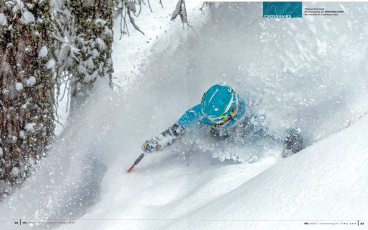 photo: STEPHANE GODIN  *  skier: Thibaud Duchosal  *  snow: San Martino Di Castrozza, Italy  from Fall 2014 issue