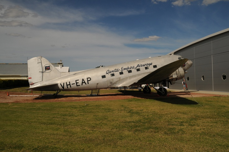 """Qantas Empire Airline VH-EAP Douglas Dakota at the Qantas Founders Museum, Longreach, Qld. Part of the collection of aircraft which served with the airline over its long history.  QANTAS Museum was in our """"side yard"""" we lived in the best spot in town."""