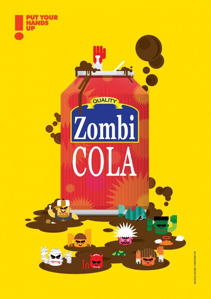 Zombie Cola - 그래픽디자인, 캐릭터디자인, 일러스트