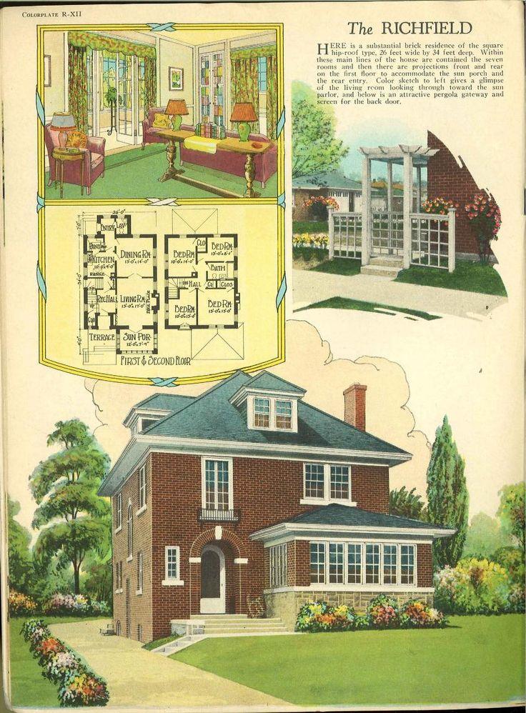 1926 home fireside and garden vintage house plans 1920s for Garden design 1920 s