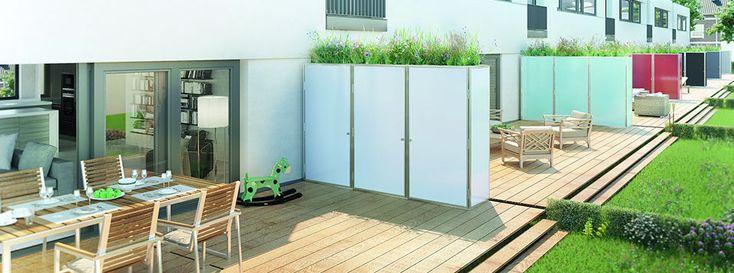 trennwand mit sichtschutz und abstellraum f r garten balkon und terrasse ig cube outside. Black Bedroom Furniture Sets. Home Design Ideas
