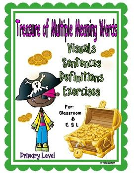 Multiple Meaning Words: lessons and practice for over 45 words with multiple meanings. Full of visuals and exercises for reinforcement. Great for classroom/ESL>