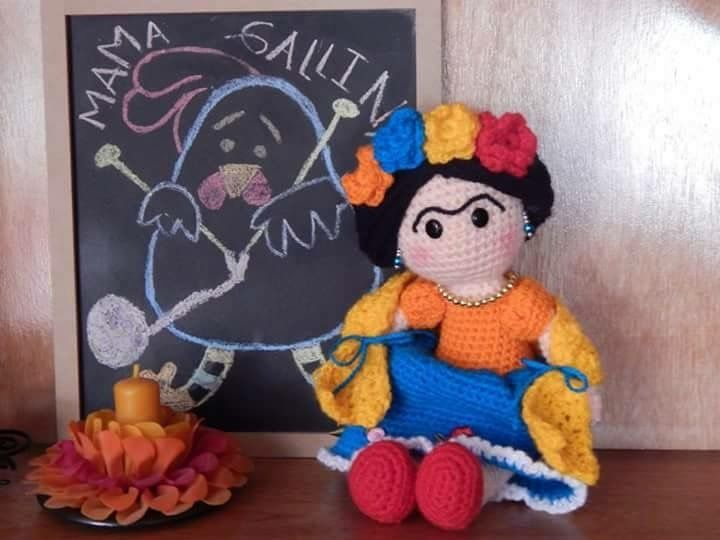 Amigurumi Frida Kahlo : Frida kahlo en ganchillo mon petit crochet