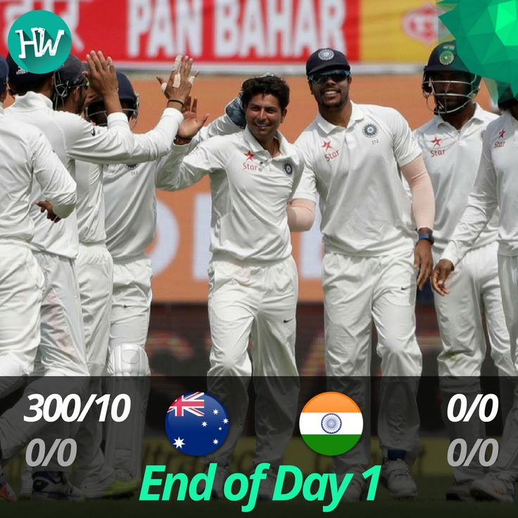 What a day! Australia were wrapped up for 300 on Day 1 itself, thanks to the debutant Kuldeep Yadav! #INDvAUS #IND #AUS #cricket