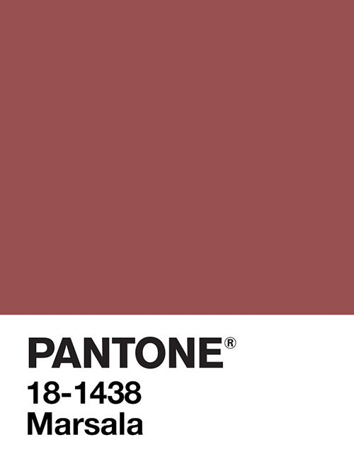 And the angels sang HALLELUJAH! PANTONE Color of the Year 2015, Marsala