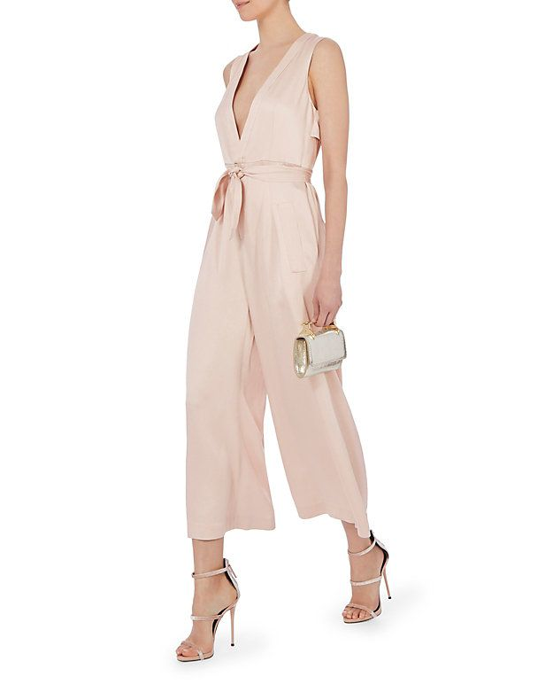 Marissa Webb Connie Satin Crepe Jumpsuit