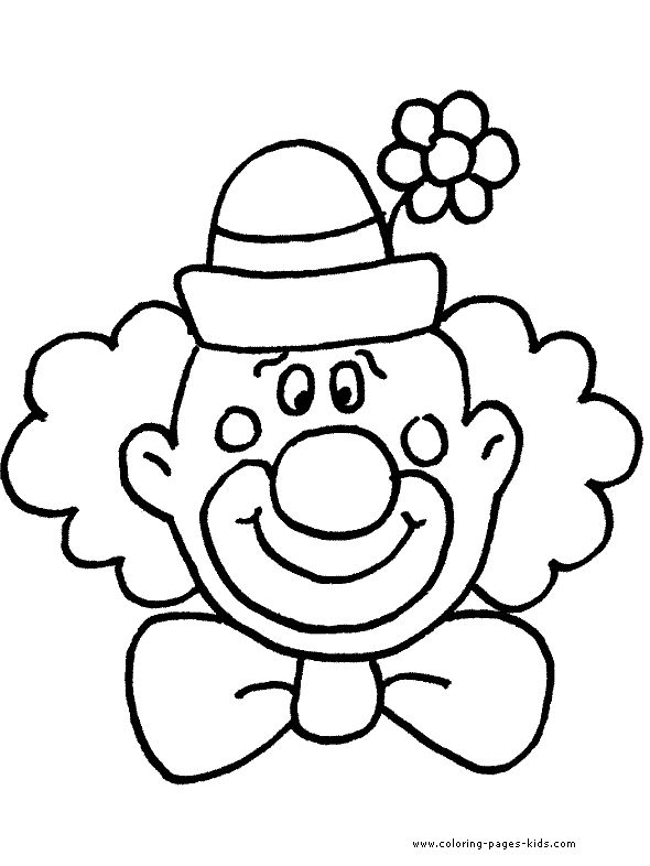 circus clowns color page coloring pages for kids miscellaneous