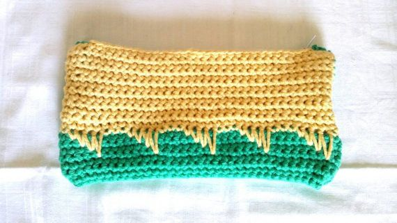 Bicolor crochet purse/wallet/handmade/ gift by KaterinakiJewelry
