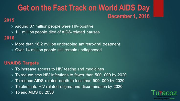 #TuracozHealthcareSolutions supports the #UNAIDS program on #WorldAIDSDay. UNAIDS has set targets under #FastTrackStrategy to end #AIDS by 2030.