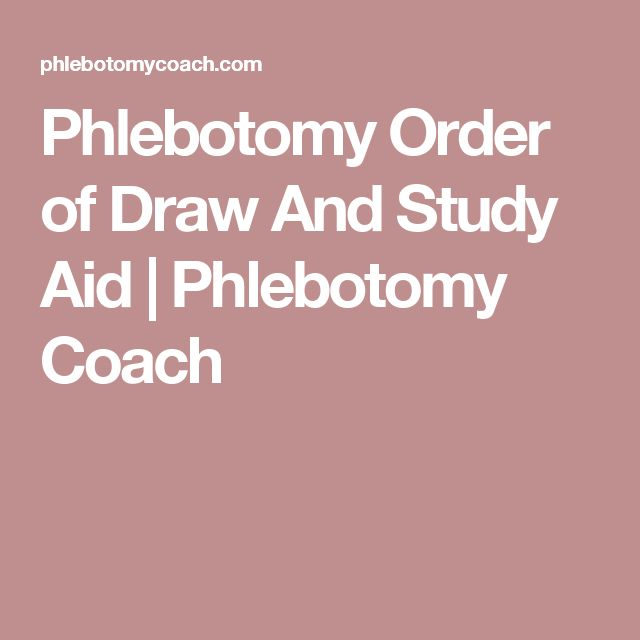 Phlebotomy Order of Draw And Study Aid | Phlebotomy Coach