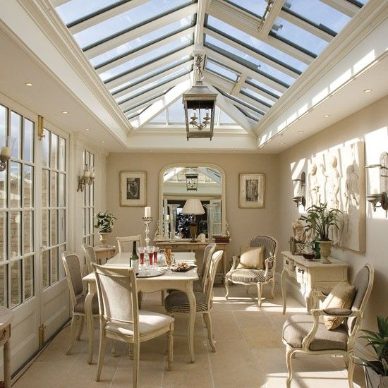 light blue formal bedrooms | French dining room | Conservatories - 10 of the best | housetohome.co ...