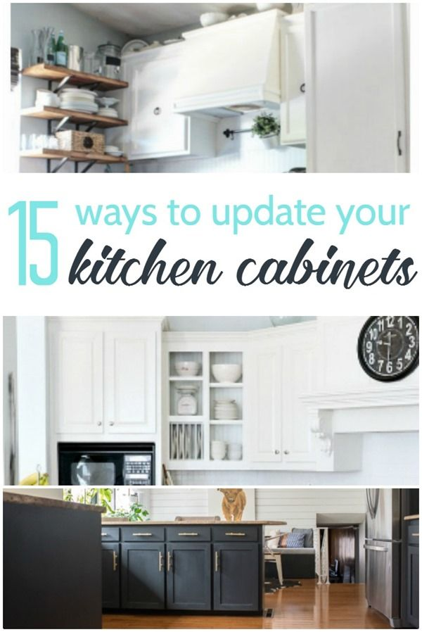 15 amazing ways to redo kitchen cabinets the o 39 jays for Cheapest way to remodel kitchen cabinets