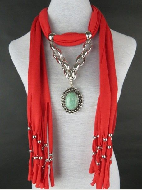 Charming Stone Necklace Jewelry Scarf Wholesale