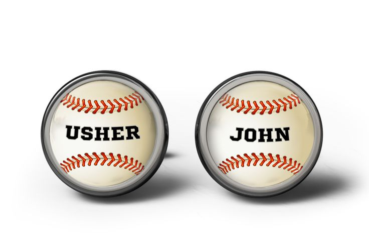 Usher Baseball Wedding Cufflinks