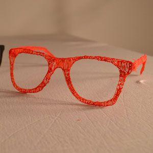 Hipster-Brille - hergestellt mit dem 3Doodler