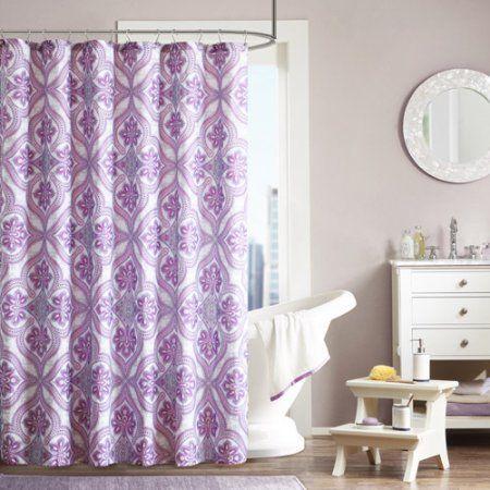 Home Essence Apartment Dakota Shower Curtain, Purple Ideas