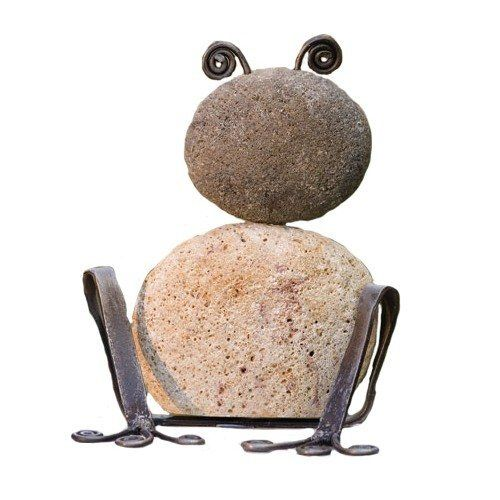 Ancient Graffiti Large Metal Sitting Frog Natural River Stone With Wire By Ancient  Graffiti. $33.00. Creates An Artistic Blending Of Your Style And Garden ...