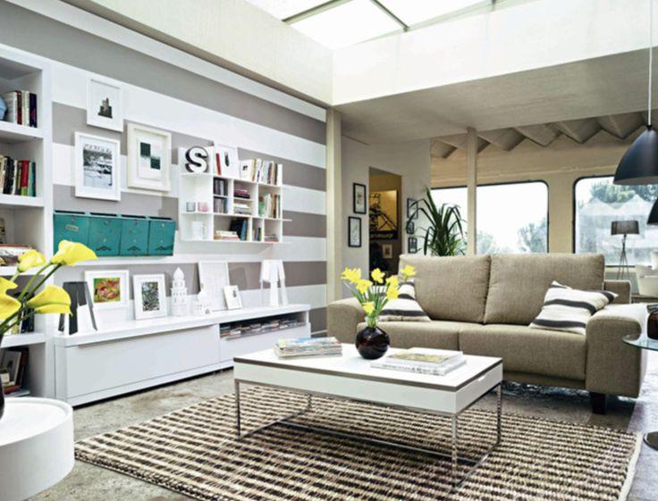 Las 25 mejores ideas sobre paredes de rayas horizontales - Pintar pared a rayas horizontales ...